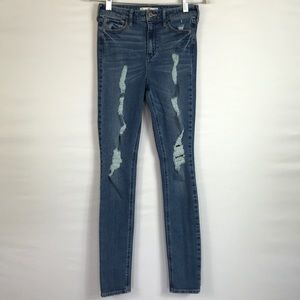 HOLLISTER HIGH RISE SKINNY JEANS SIZE 1